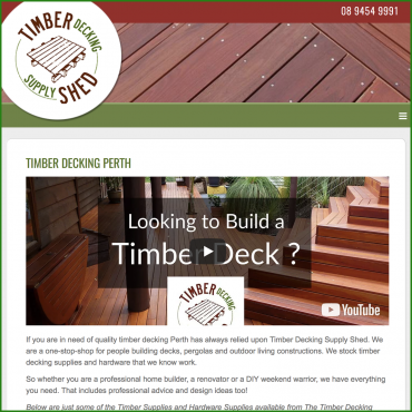 Timber Decking Supply Shed