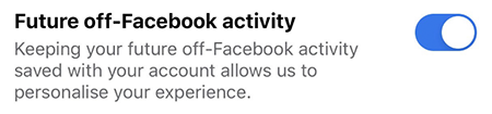 Turn Off Facebook Activity